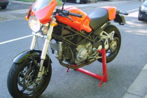 abba Superbike Stand on Ducati Monster S2R800
