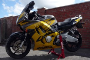 abba Superbike Stand on Honda CBR600