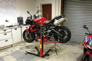 Triumph Street Triple on abba Sky Lift